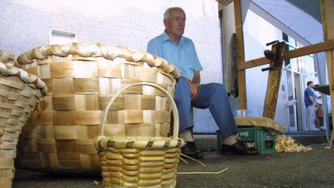 Imagen de cesteiros en Mondariz