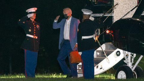 Joe Biden, a su regreso a Washington desde Camp David el martes.