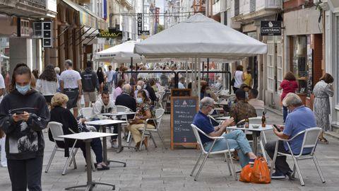 Terrazas de hostelería en el centro de la ciudad