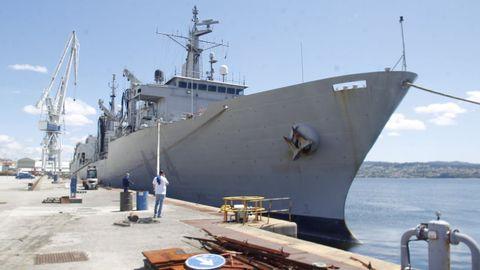La unidad de aprovisionamiento de la 31.ª Escuadrilla supera los 25 años al servicio de la Armada