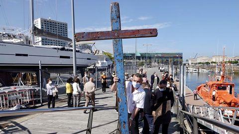 La Cruz de Lampedusa, en su traslado de Vigo a Baiona