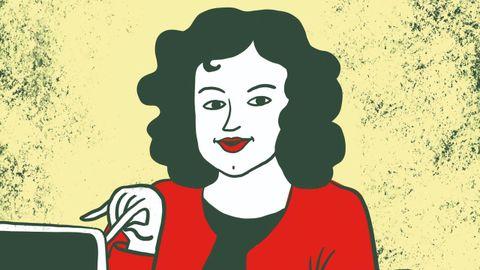 Ilustración de Anna Grimal para la biografía de Miriam Pena.