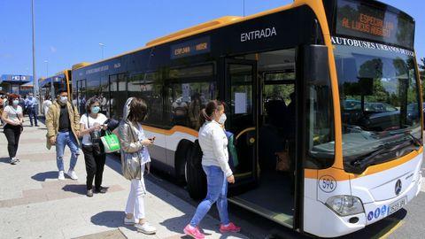 Autobús urbano en Lugo
