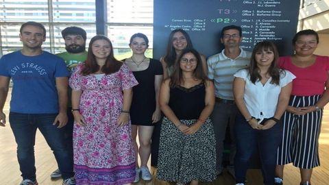 Los investigadores del CiMUS que participaron en el descubrimiento en una imagen de archivo