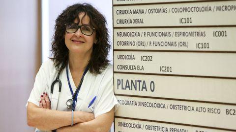 La neumóloga Carmen Diego dice que la pandemia no ha parado consultas como la de asma grave