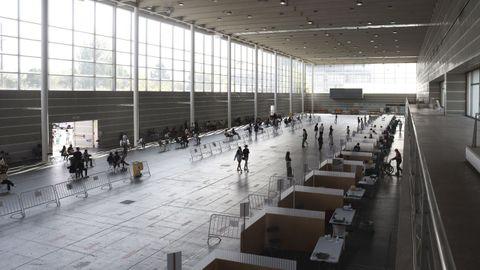 El recinto ferial de Pontevedra es uno de los grandes espacios del área sanitaria donde se vacuna contra el covid