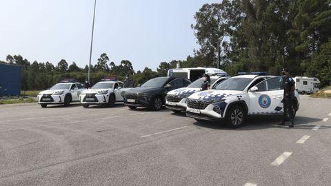 Los cinco nuevos coches de la Polícia Local que patrullarán por Sanxenxo