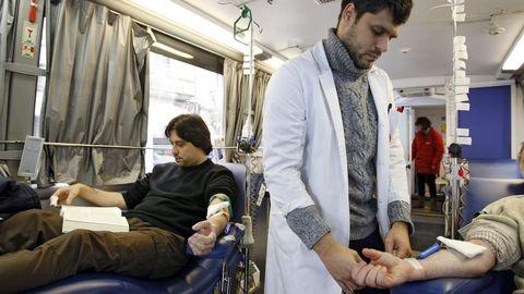 Donación de sangre en Ourense en una imagen de archivo