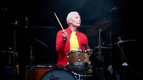 Charlie Watts, en un concierto de la banda de rock británica The Rolling Stones en el Olympiastadion de Berlín, el 22 de junio del 2018.