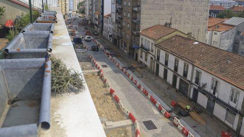 Imagen de las obras de la calle Concheiros