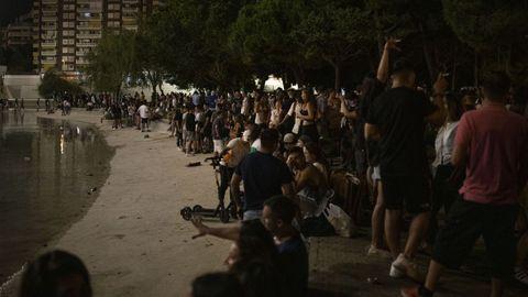 Aglomeraciones estos días en las fiestas de Sants (Barcelona)