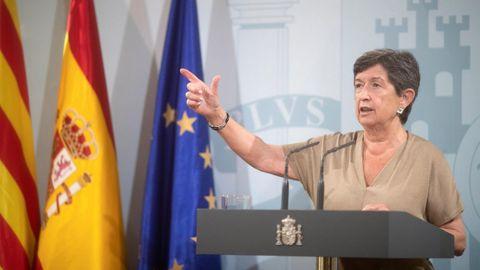 La Delegada del Gobierno en Cataluña, Teresa Cunillera, defendió este miércoles la importancia del diálogo para buscar puntos en común con los independentistas