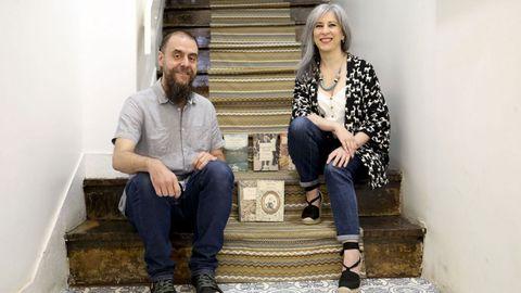 Carlos Valdés y Celia Recarey, de la compostelana Irmás Cartoné.