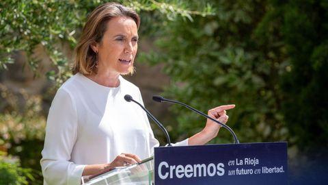 La portavoz del Partido Popular en el Congreso, Cuca Gamarra, en una imagen de archivo