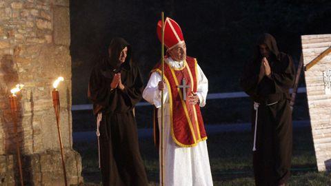 Representación de la leyenda de San Gonzalo en la Festa Normanda de Foz.