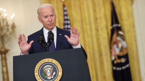Biden, en su comparecencia desde la Casa Blanca