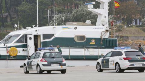 Un operativo de la Guardia Civil en un puerto