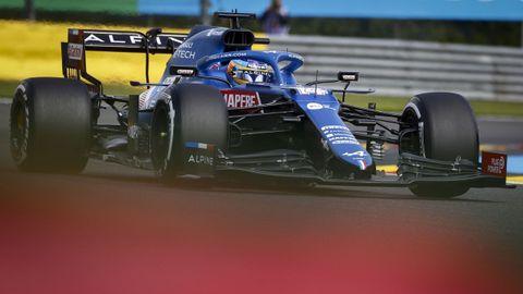 Fernando Alonso en el Gran Premio de Bélgica