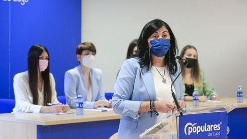 Elena Candia, presidenta del PP de Lugo, en una imagen de archivo.