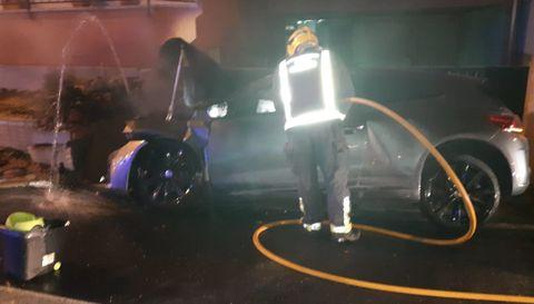Estado en el que quedó el coche en el que viajaban los cuatro chicos en el accidente la madrugada del viernes al sábado