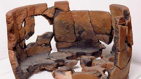 Parte inferior del horno de Castromao, guardado en el Museo Arqueolóxico de Ourense