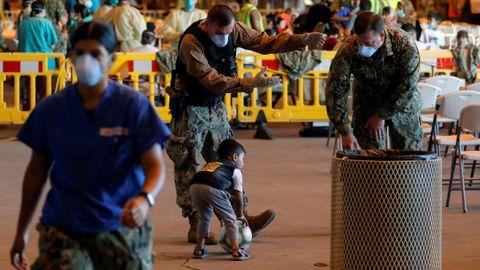 Soldados estadounidenses en la Base Naval de Rota, España