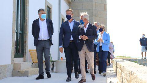 El presidente de la Xunta pudo comprobar el resultado de los trabajos de rehabilitación