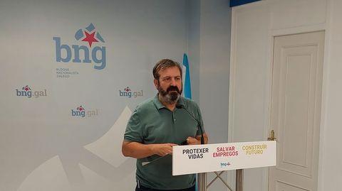 Luis Bará, este jueves en Pontevedra