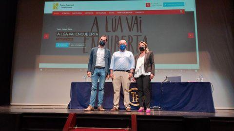 Jacobo Sutil, César Fernández y Olga Mojón presentan la temporada del Teatro Principal.