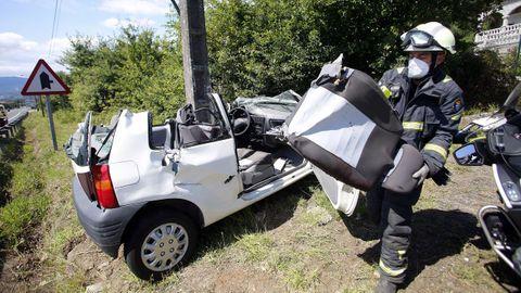 Imagen de uno de los accidentes mortales ocurridos en agosto de este 2021 en Galicia.