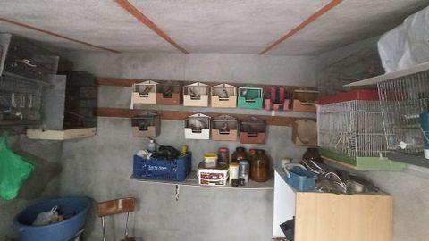 El cuarto donde guardaba las aves.
