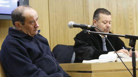 José Ternero, 'O Chucán', en el jucio en el que se le acusaba de haber asesinado a una mujer en Sober (Lugo).