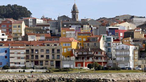 Casas de colores en A Guarda