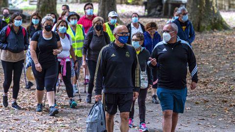 Baltar participó en una caminata reivindicativa de doce kilómetros