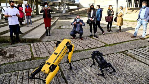 Dos robots, en las Jornadas de Automatización Industrial