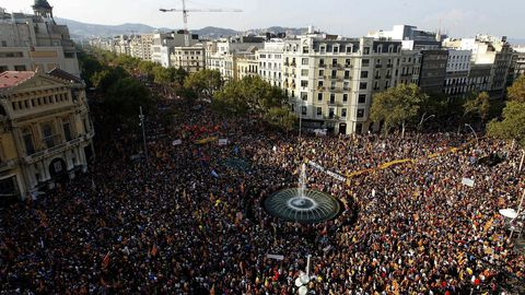 Imagen de la multitudinaria Diada del 2012