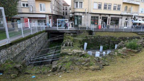 Yacimiento arqueológico de la plaza de Valentín García Escudero, en Pontevedra