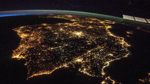 Imagen de la Península tomada por los astronautas de la Estación Espacial Internacional