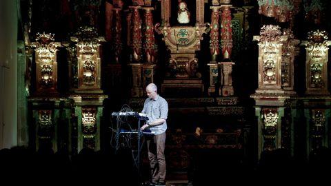 Actuación en la iglesia de la Universidad durante la edición de 2017 del WOS.