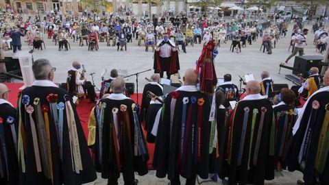 Actuación de las rondallas en la pasada edición de las Pepitas, en Ferrol.