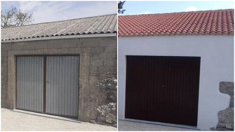 Antes y después de un garaje en Lobios