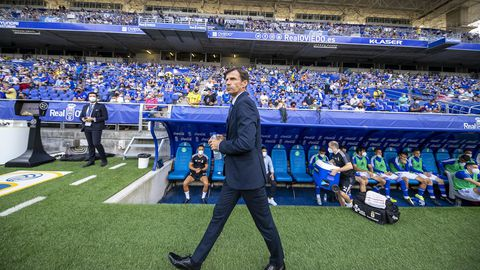 José Ángel Ziganda, en el Carlos Tartiere