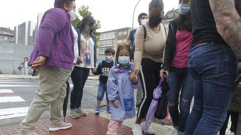 Primer día de clase en el CEIP A Escardia, en Vilagarcía