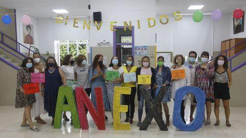 Primer día en el CEIP A Lomba (Anexo), en Vilagarcía
