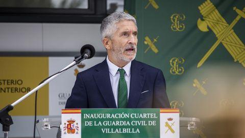 El ministro del Interior en la mañana de este jueves en Madrid