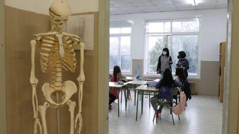 Primeras clases en el colegio Apóstol Santiago de la capital gallega
