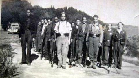 El asturiano Cristino García Granda, al frente de su grupo de guerrilleros en Francia, durante la Segunda Guerra Mundial