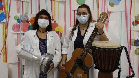 El servicio de Musicoterapia cuenta con una sala propia en el hospital de día de Psiquiatría del CHUO