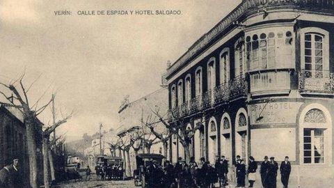 Imagen histórica de la fachada del Gran Hotel Salgado