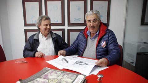 Jesús Vázquez con Luis Abel, de la federación vecinal